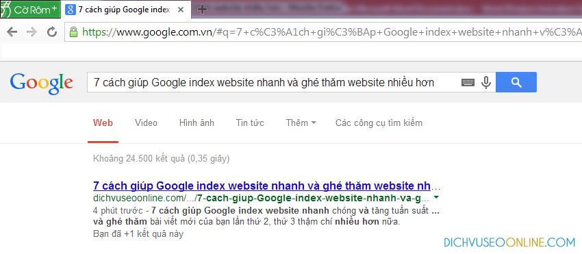 google-index-nhanh